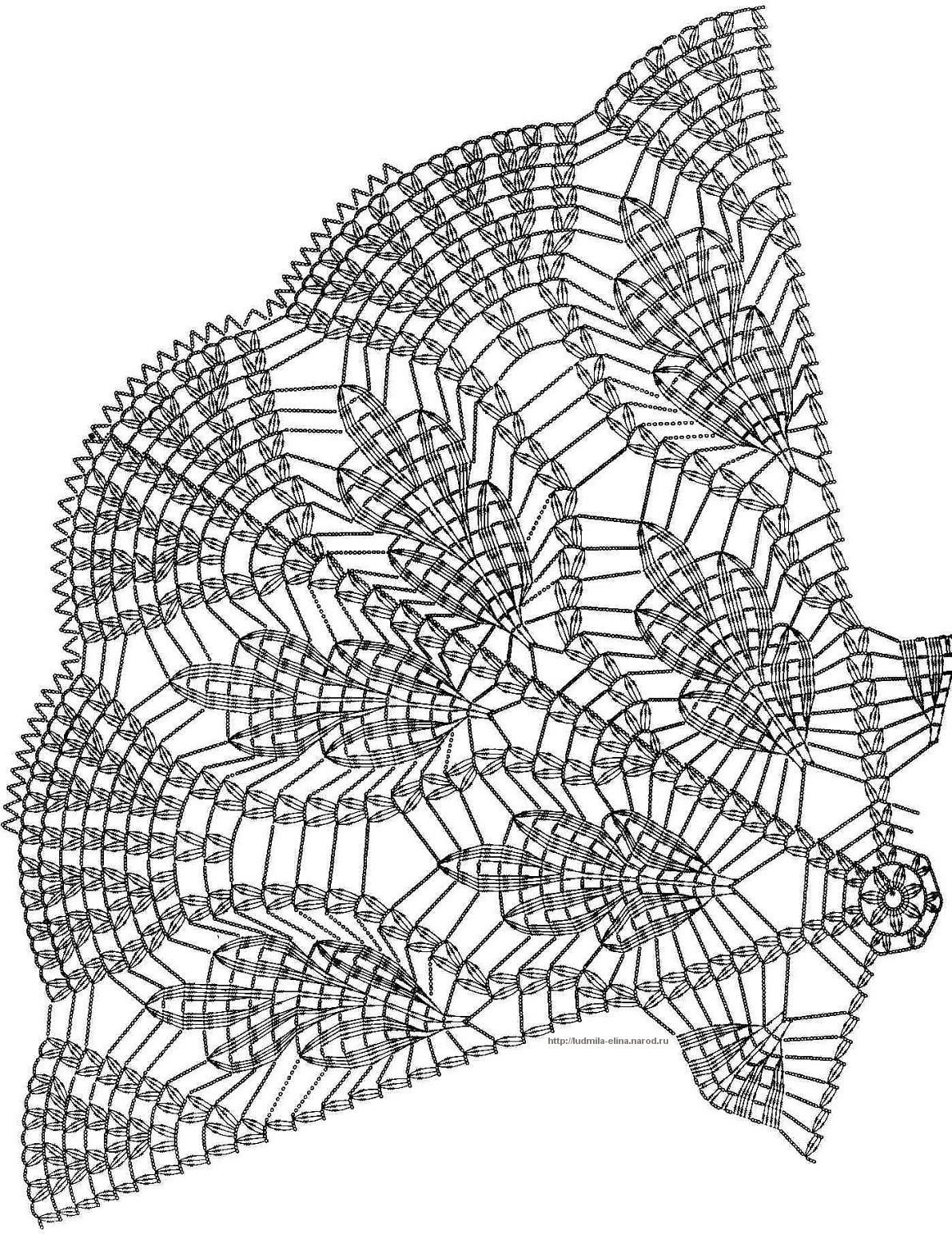 crochet doily symbol diagram - need good eyesight to count all those ...