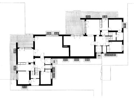 House Kandinsky / Klee ground floor plan, 1926