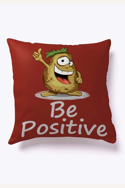 BE POSITIVE sofa pillow cover