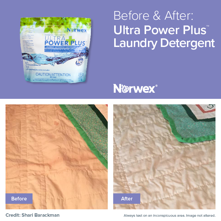 Fantastic Results Using The Norwex Ultra Power Plus Laundry