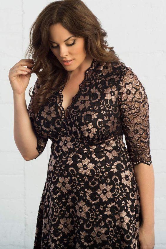 Curvalicious Clothes Plus Size Dresses Mademoiselle Lace Dress
