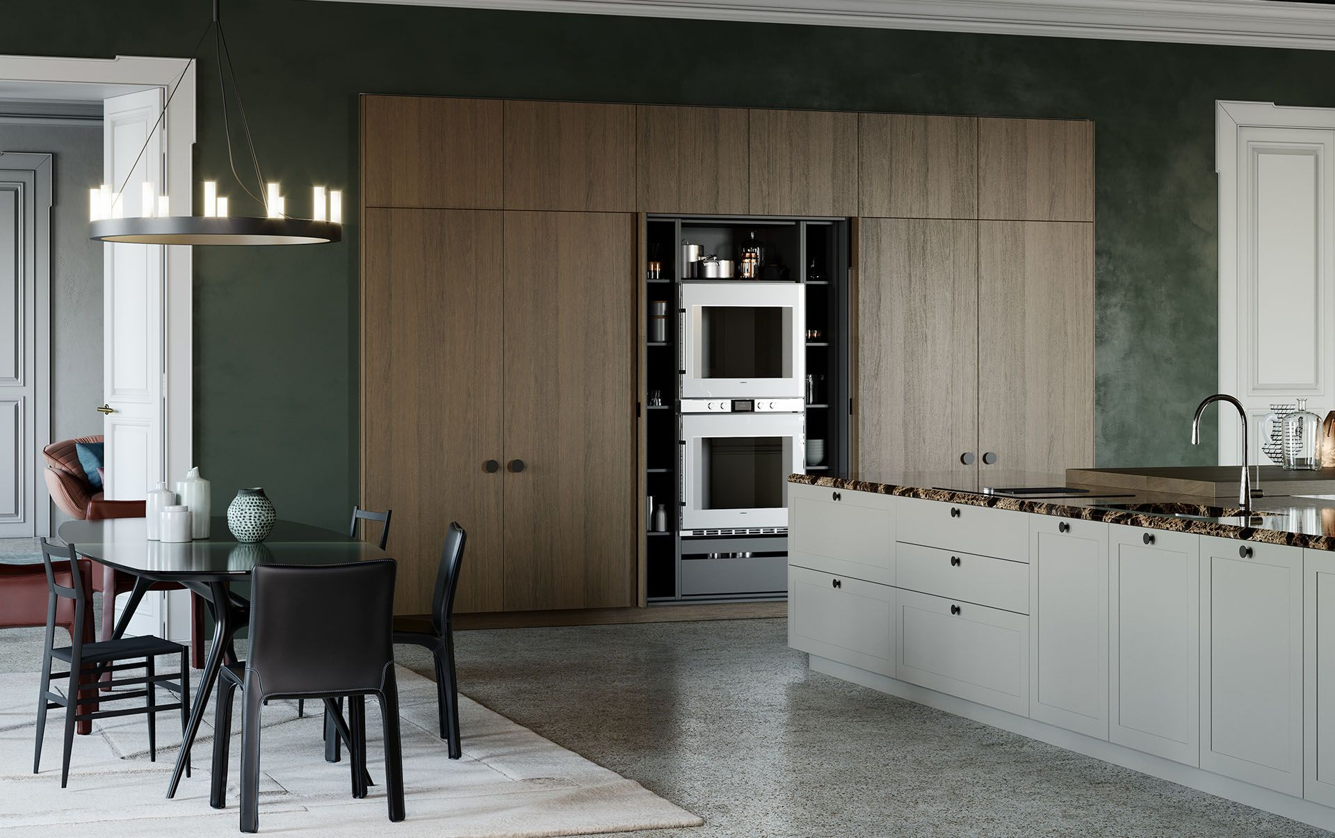 Modern Italian Custom Made Kitchen Cabinets Available In Brooklyn Ny Exclusive Home Interiors Luxury Kitchen Design Modern Italian Kitchen Cabinets