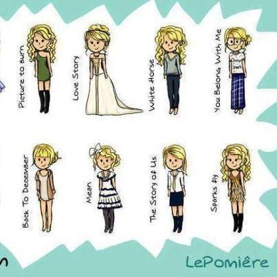 Taylor Swift cartoon.
