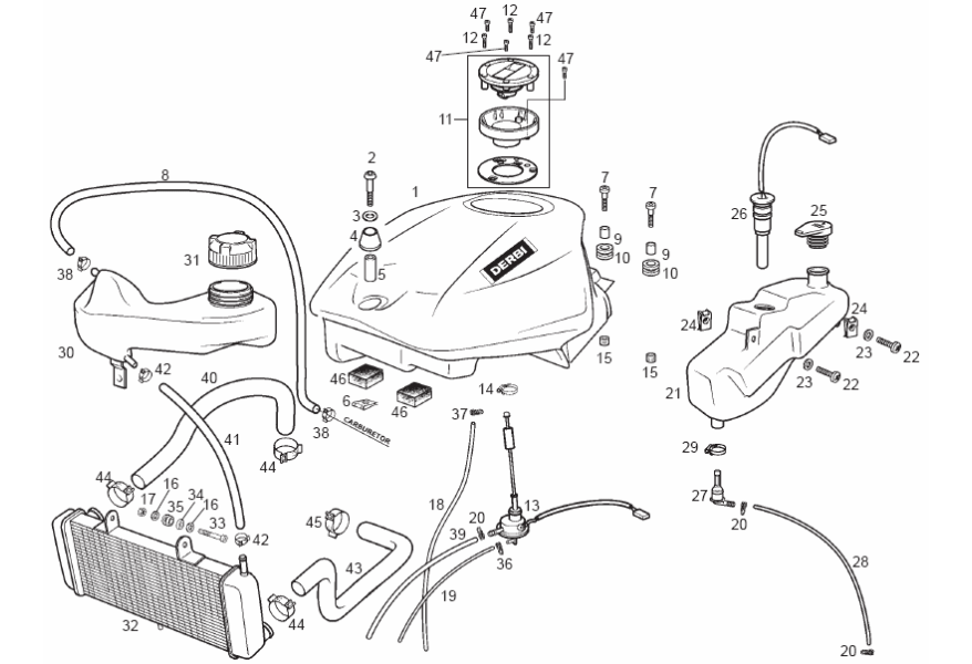 Piezas de recambio Derbi GPR 125 2T 2ª ED R 2006 E2 (EMEA