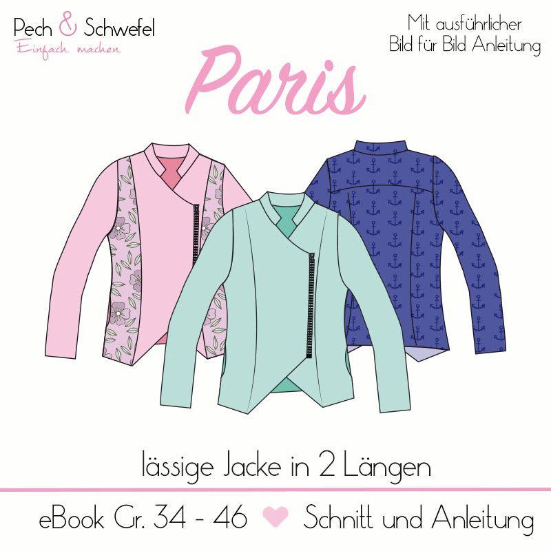 E-Book Jacke Paris | meine | Pinterest | Nähen, Schnittmuster und ...