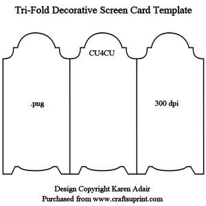 tri fold screen card template projects to try pinterest screen