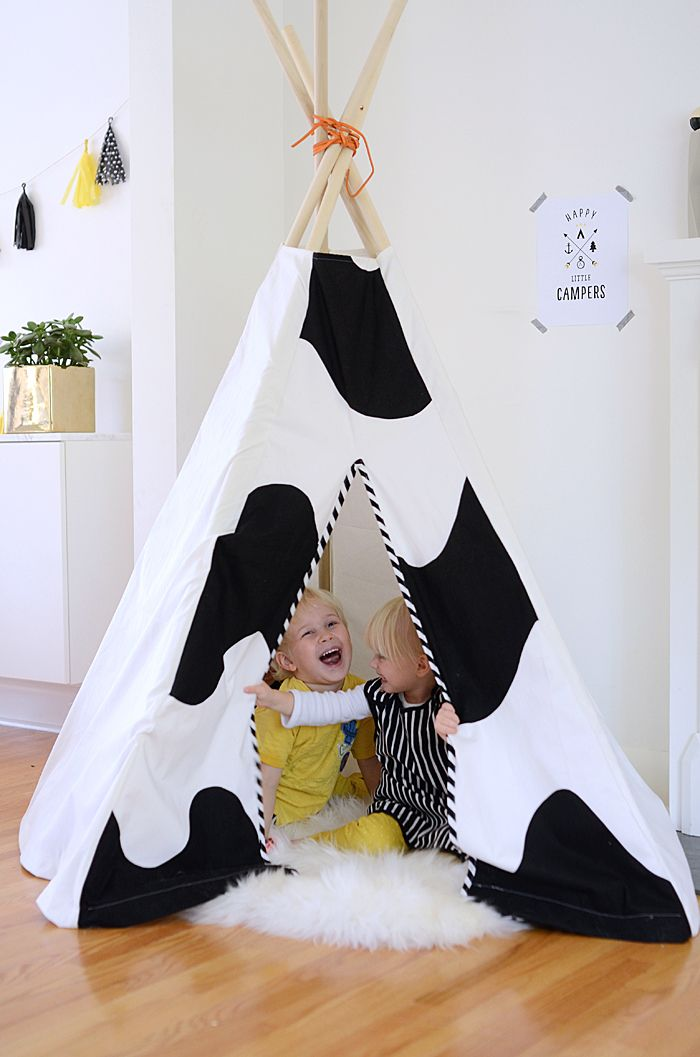 15 DIY Teepees and Play Tents Your Kids Will Spend All