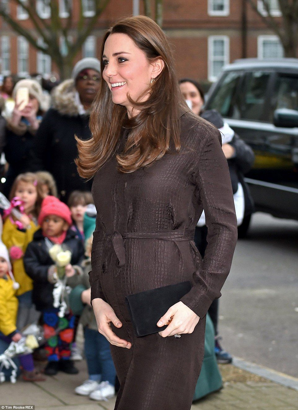c054a9e2ea Thrifty Duchess of Cambridge wears £50 animal print dress by Hobbs ...