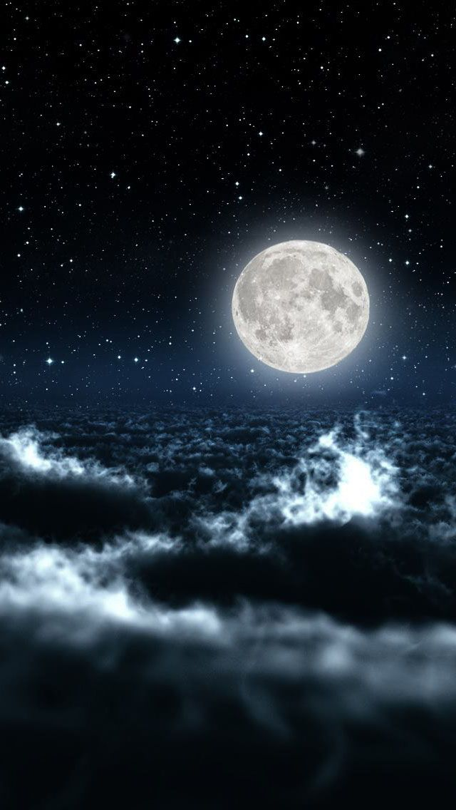 Beautiful Moon And Stars Wallpaper Night Sky Wallpaper Iphone Wallpaper Sky