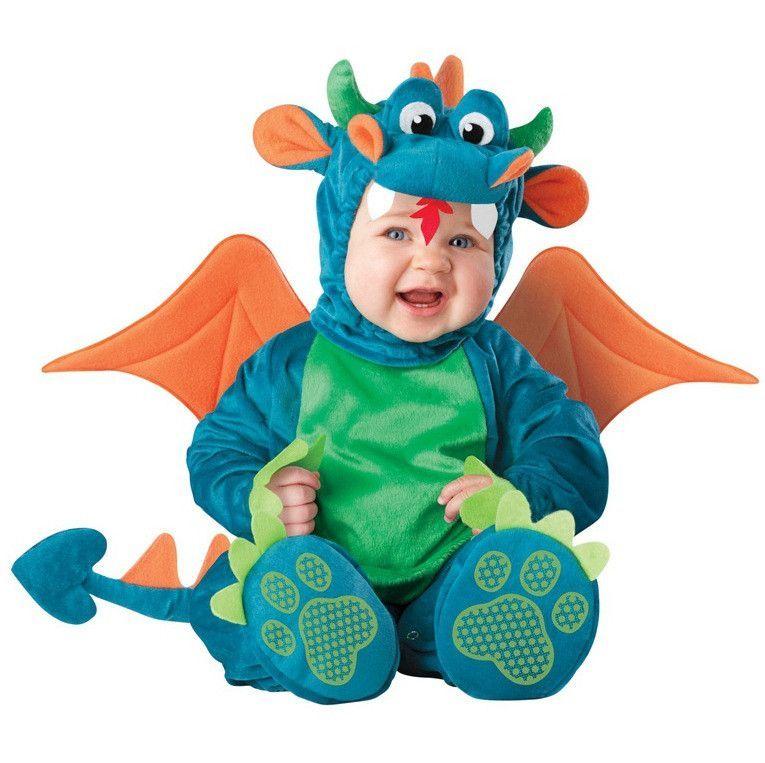 New Arrival High Quality Baby Boys Girls Halloween Dinosaur Costume Romper Kids Clothing Set Toddl Baby Dragon Costume Baby Halloween Animal Halloween Costumes