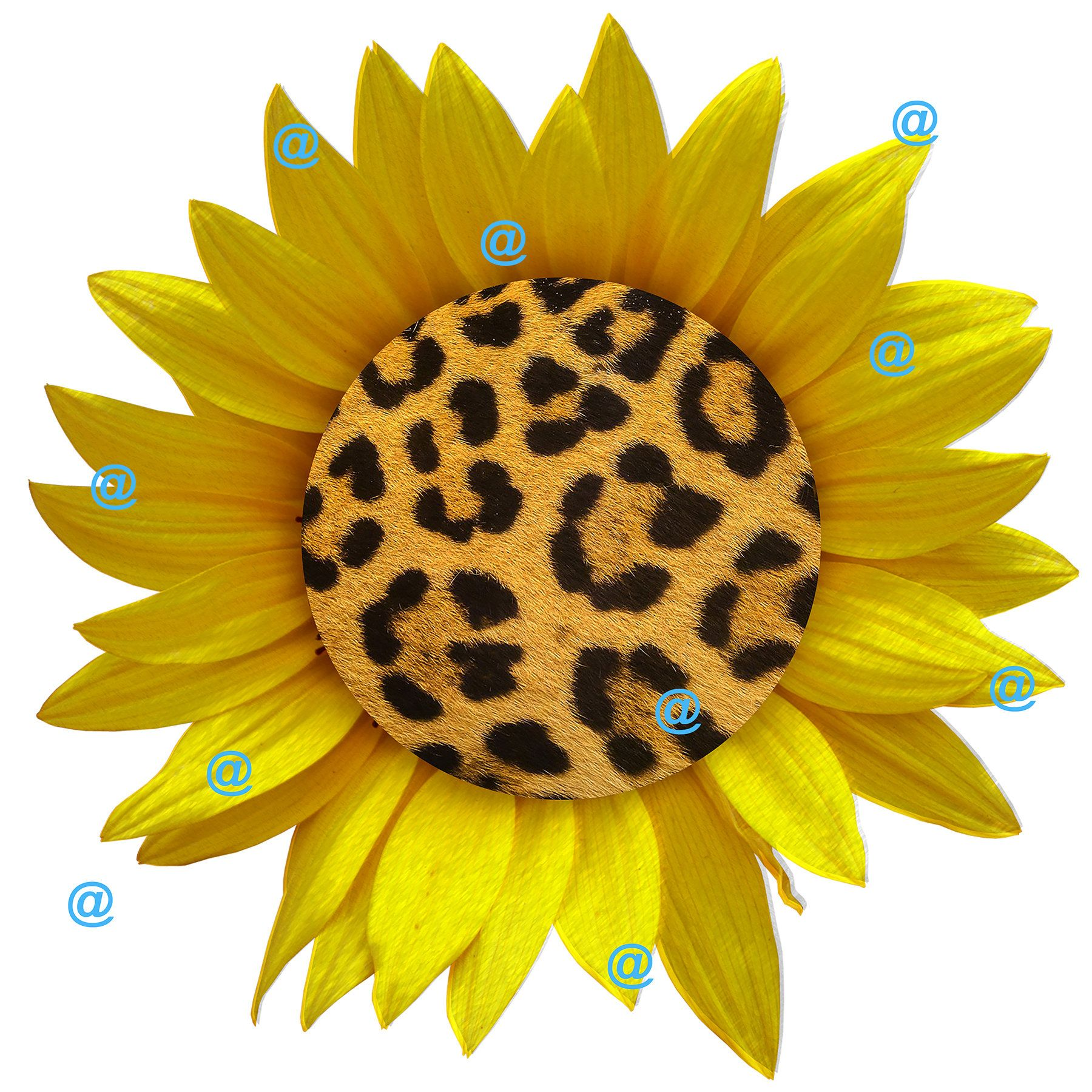 Excited To Share The Latest Addition To My Etsy Shop Leopard Sunflower Png For Sublimation Printing Clipart Https American Flag Decal Sunflower Png Clip Art