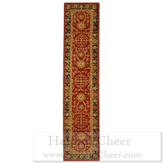 Safavieh Handmade Oushak Traditional Red Wool Runner 2 x27 3 x 10 x27 - at Oversto
