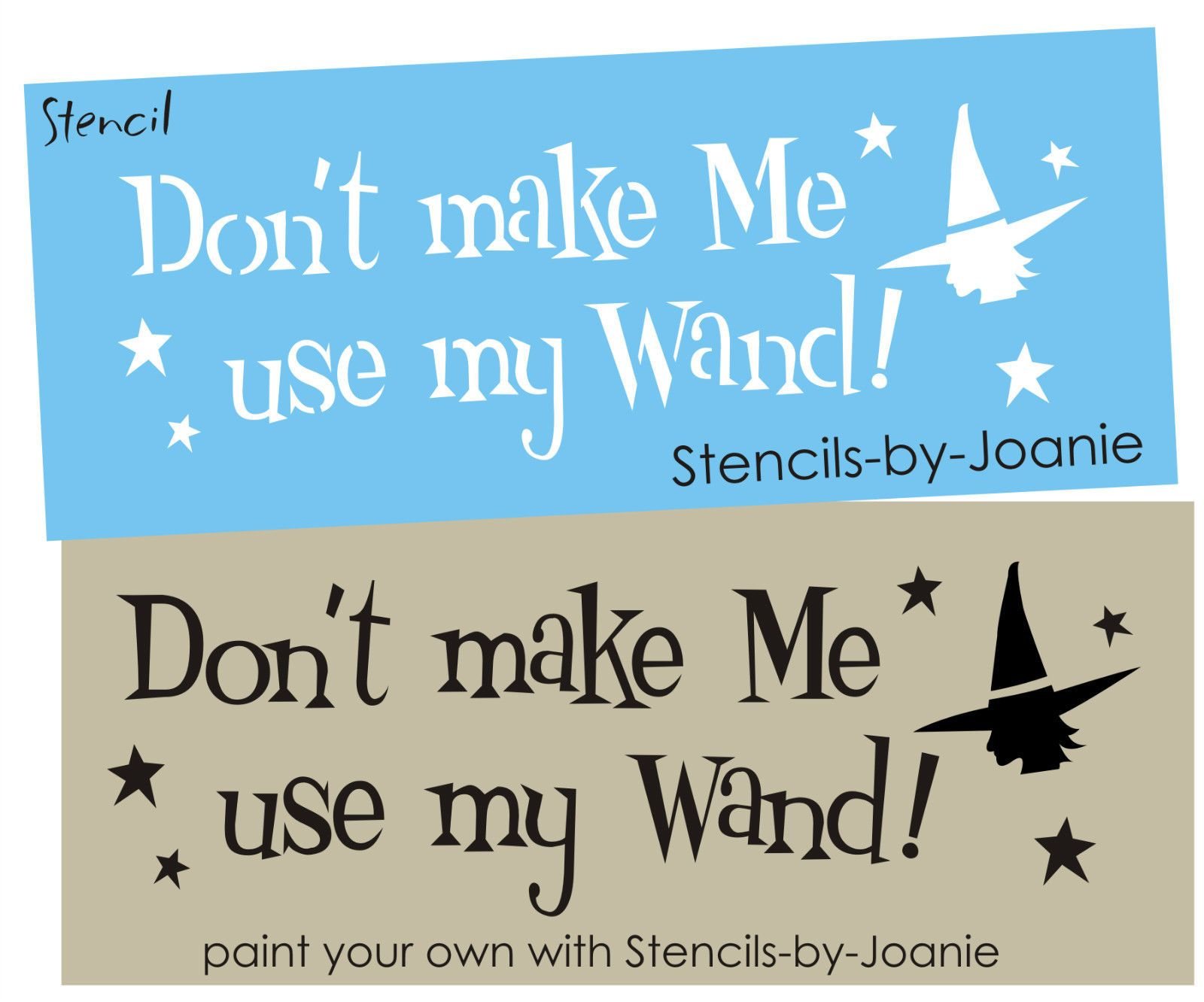 Primitive stencil home sweet home 12x12 for painting signs crafts - Stencil Don T Make Me Wand Halloween Witch Stars Oz Prim Country Holiday Signs