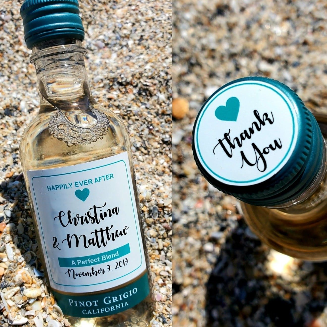 Custom Sutter Home Mini Wine Bottle Label Set in 2021