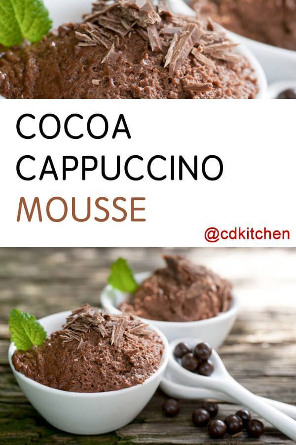 Cocoa Cappuccino Mousse Recipe Is Made With Whipping Cream Water Sweetened Condensed Milk Cocoa Mousse Recipes Chocolate Mouse Recipe Coco Powder Recipes