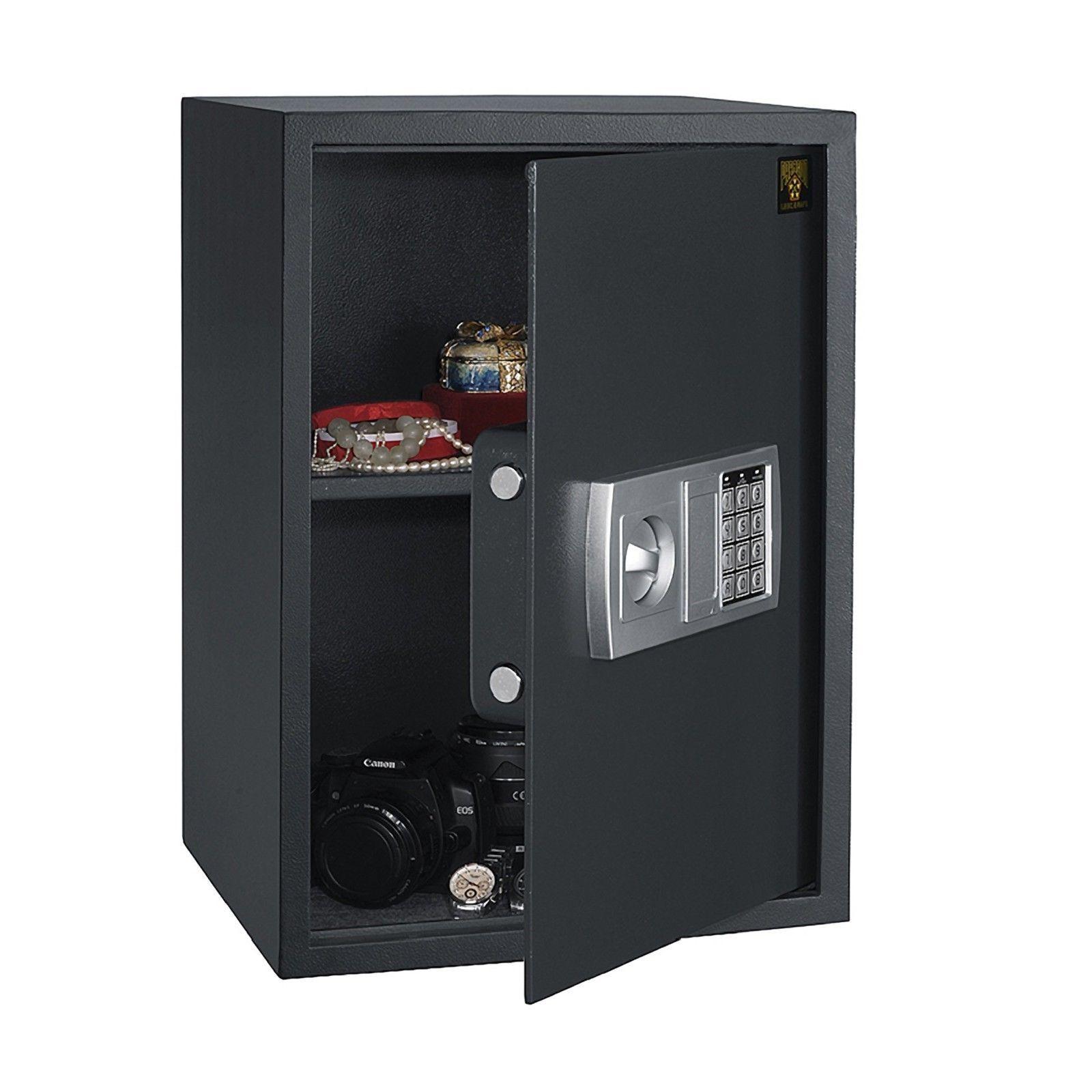 Large Digital Fire Safe Electronic Lock Box Security Steel