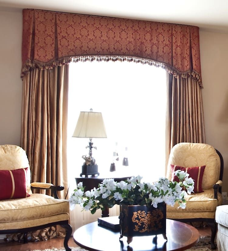 Burgundy And Yellow Living Room Curtains 11 Different Styles Of Valances Explained Valances For Living Room Curtains Living Room Window Treatments Living Room