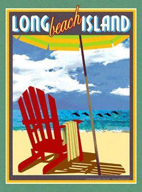 Amazon com: Long Beach Island-Art Deco Style Vintage Travel