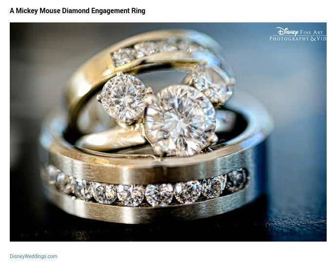Mickey Mouse Wedding Ring Set I Have No Idea Where To This But Want It In White Gold
