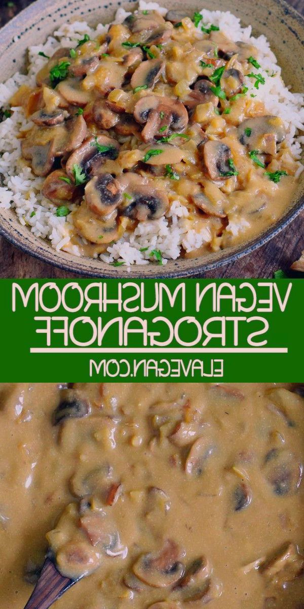 This vegan Mushroom Stroganoff is creamy, flavorful, and very delicious. The recipe is gluten-free, plant-based, perfect for lunch or dinner, quick and easy to make (ready in less than 30 minutes)! #stroganoff #mushroomstroganoff #vegandinner #elasrecipes | elavegan.com