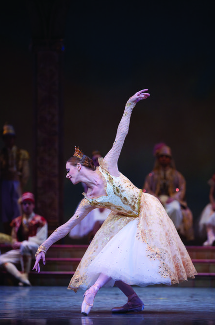 Pacific Northwest Ballet's stunning Lesley Rausch as Swanilda from 'Coppelia' (Photo by Angela Sterling)