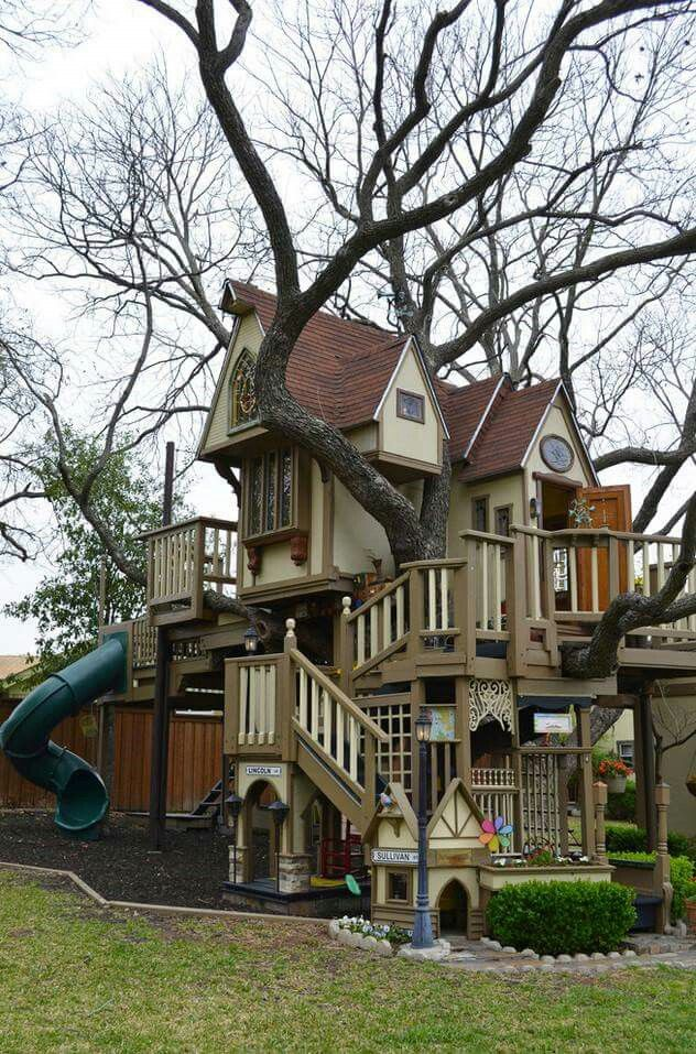 Coolest Kids Treehouse Ever Family Backyard Tree House