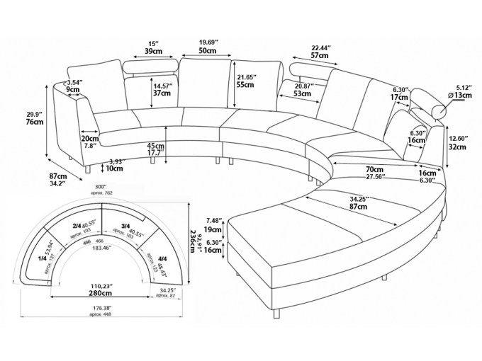 Rezultat S Izobrazhenie Za Curved Sectional Sofa Dimensions