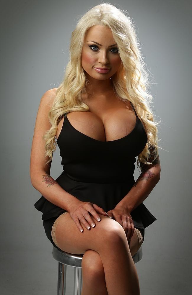 bimbo blonde busty