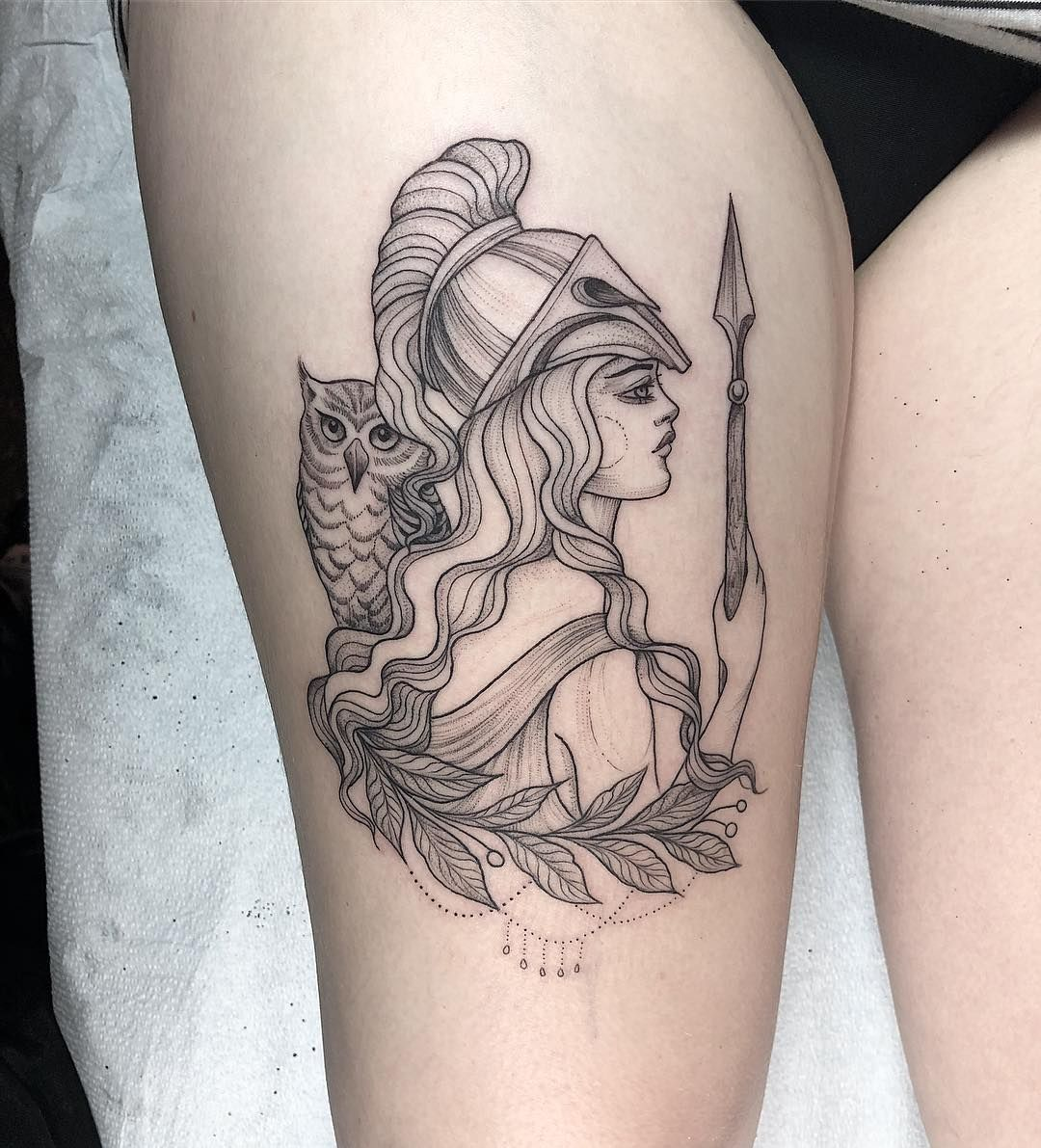 Athena For Jenny Athena Tattoo Mythology Tattoos Baby