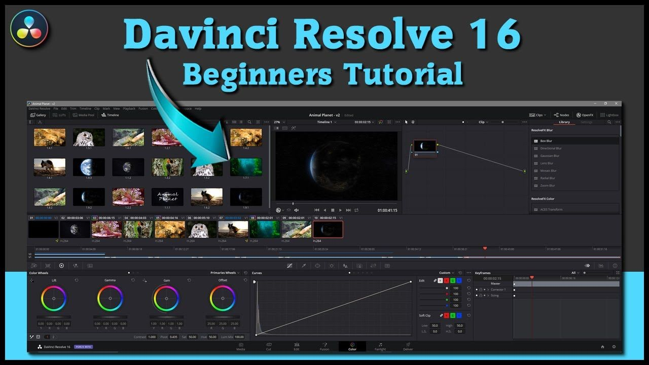 DaVinci Resolve 16 Beginners Tutorial Free Video
