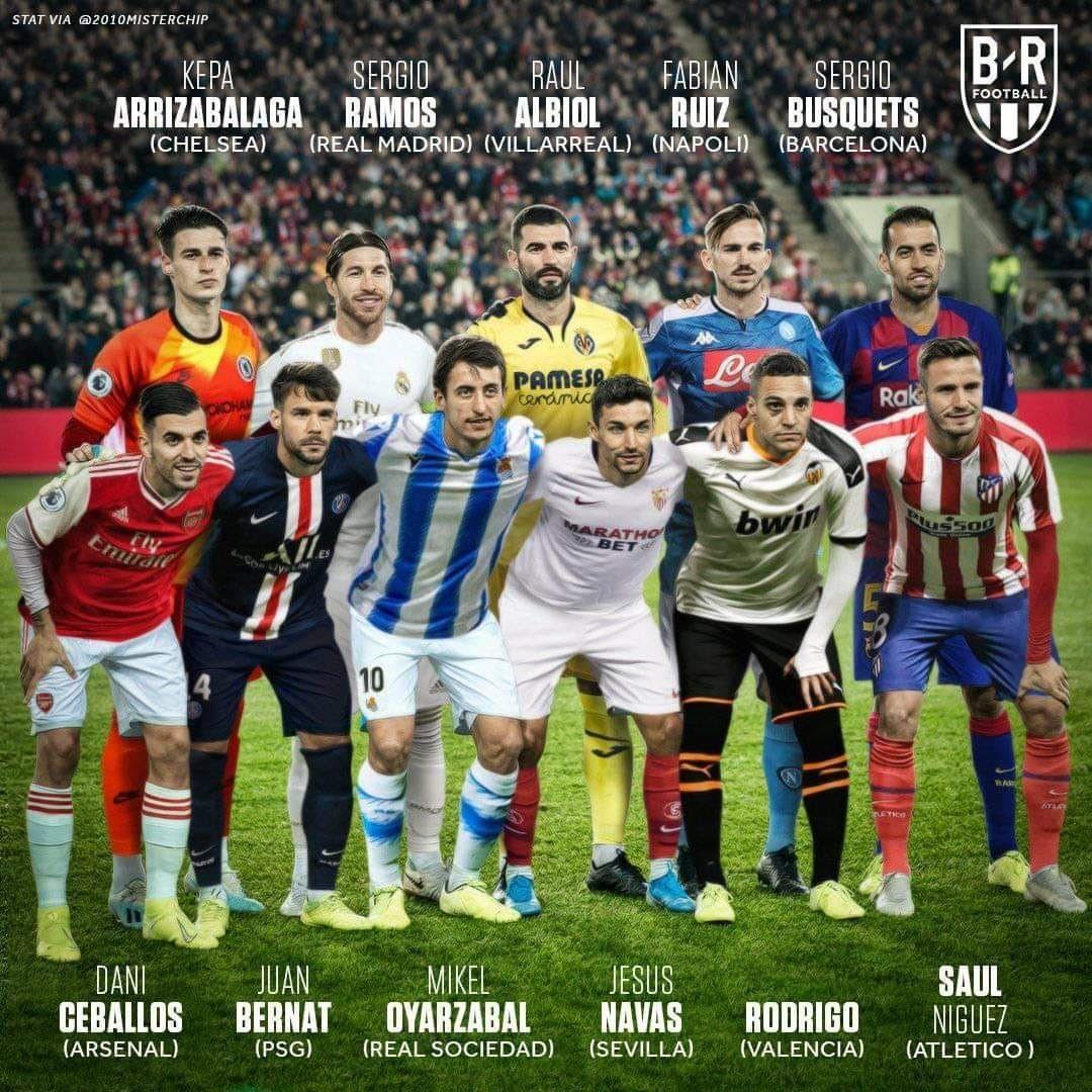 Contra A Noruega A Selecao Da Espanha Teve 11 Jogadores De Clubes Diferentes Na Escalacao Pela Primeira Vez Na Histor Espanha Selecao Futebol Espanhol Noruega