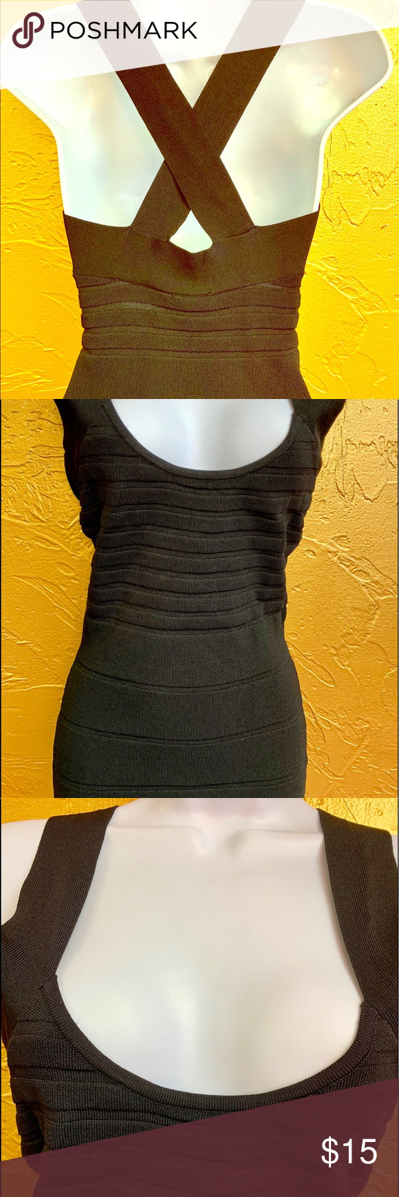 Reynah Black Cross Back Bodycon Dress Stretchy Bodycon Dress Bodycon Dress Dresses [ 1740 x 580 Pixel ]
