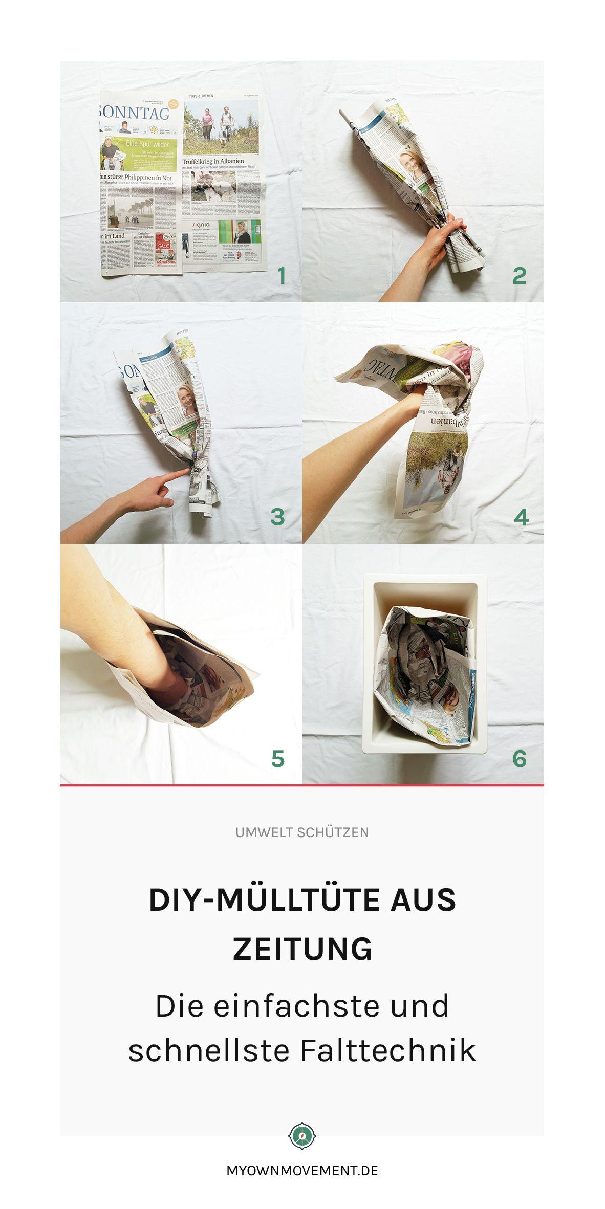 Diy Mulltute Aus Zeitung Die Einfachste Und Schnellste Falttechnik Bio Mullbeutel Armband Selber Machen Selber Machen Hochzeit