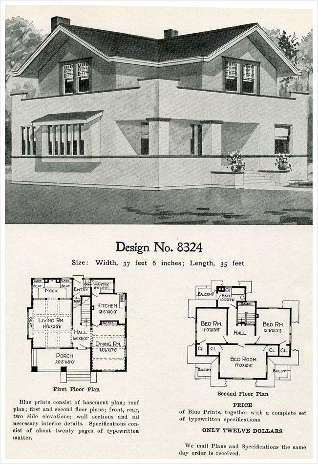 1909 Radford S Cement Houses No 8324 Cement House Craftsman House Plans Building Plans House