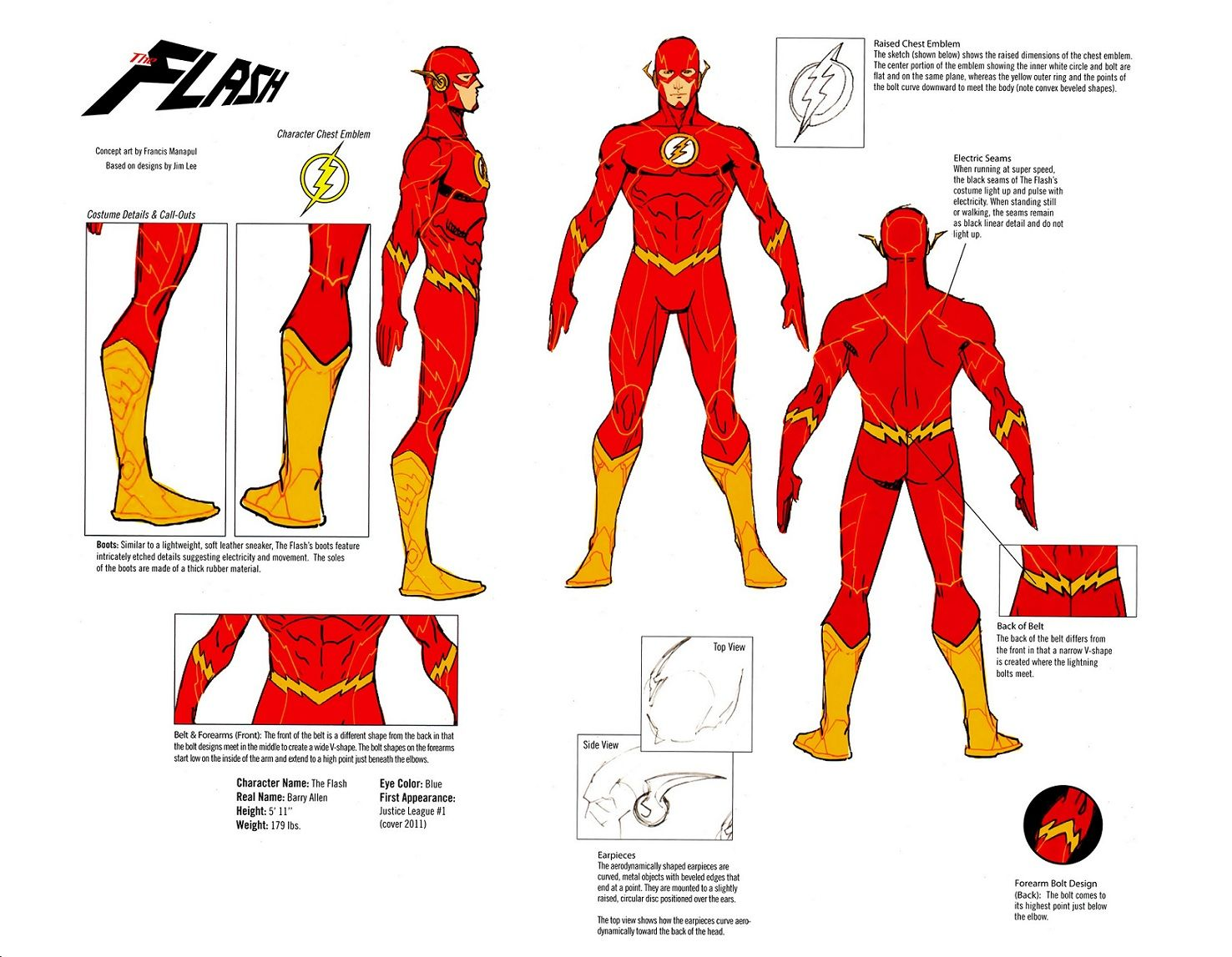 Hereu0027s The New 52 Costume Design Of The Flash. He Has A Lot Of Lines On His  Costume. It Looks Cool When Heu0027s Running Though.