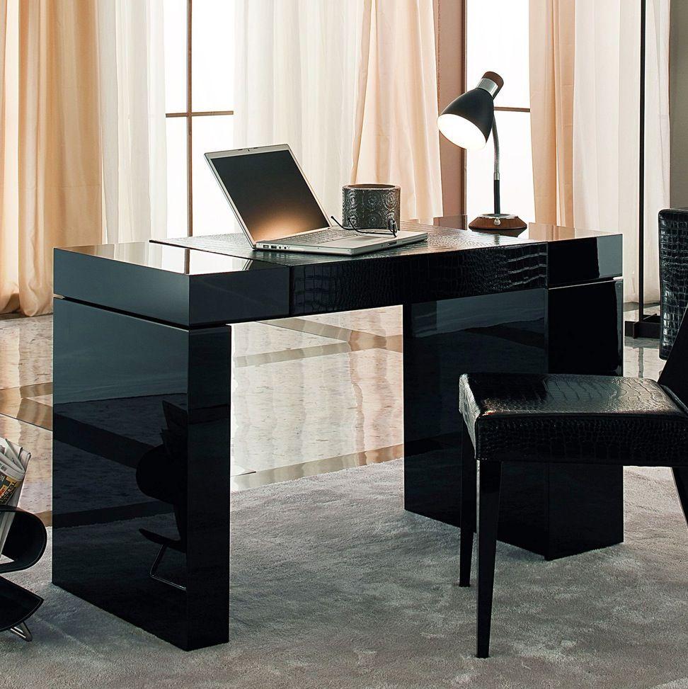 Desk The Scintillating Black Glass Standing Desk Plus Modern