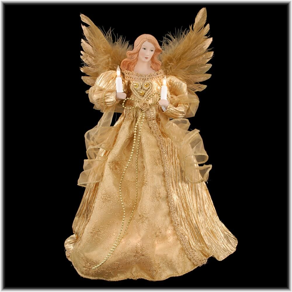 14 Inch Lighted Gold Angel Tree Topper My Dream