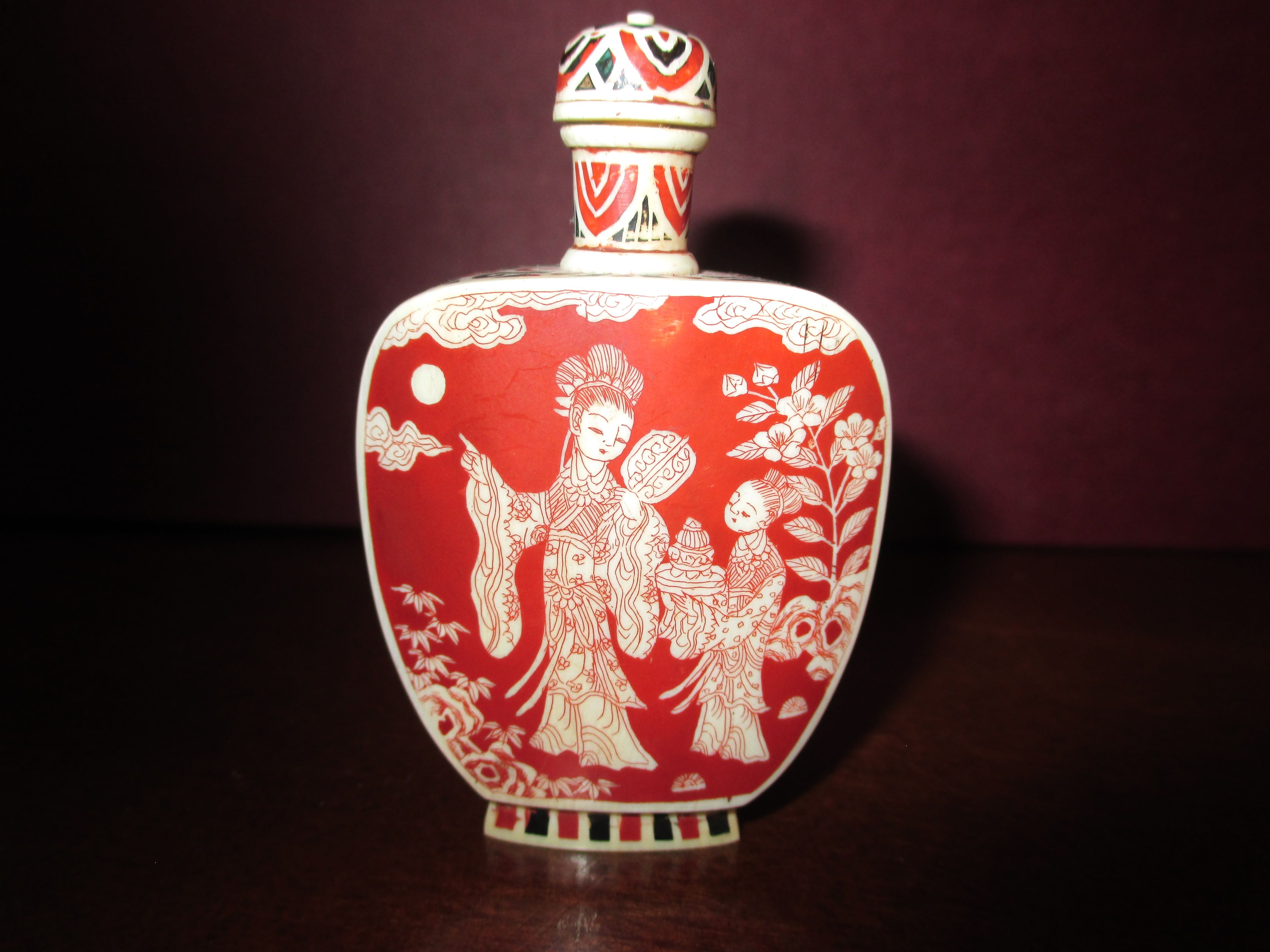 Japanese Ivory Bottle Early 20th Century Christmas Bulbs Snuff Bottle Christmas Ornaments