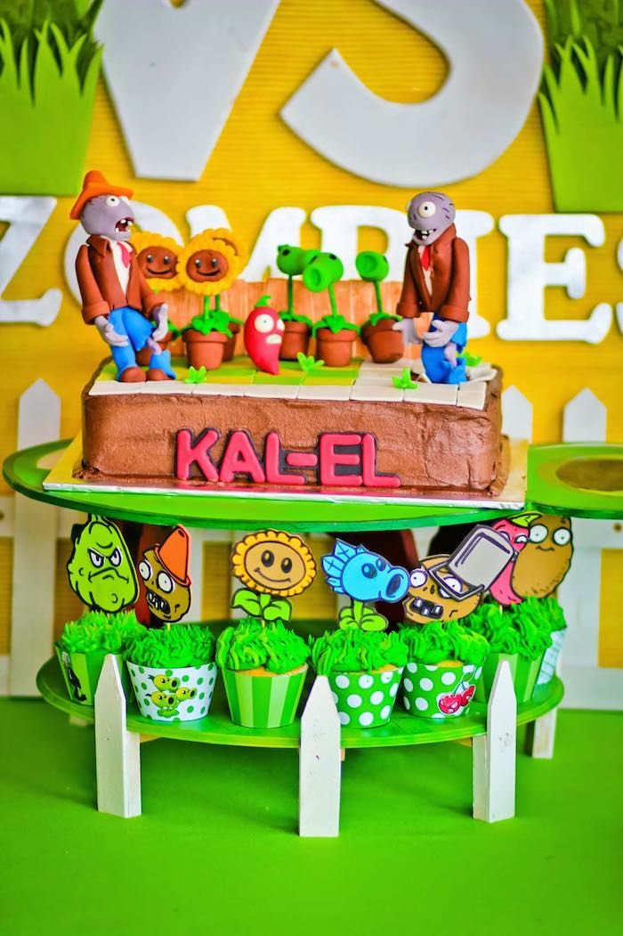 plants vs zombies birthday theme Google Search Bday Party