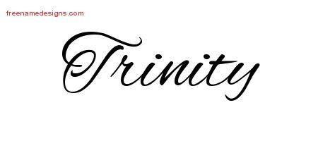 Cursive Name Tattoo Designs Trinity Download Free Name Tattoo