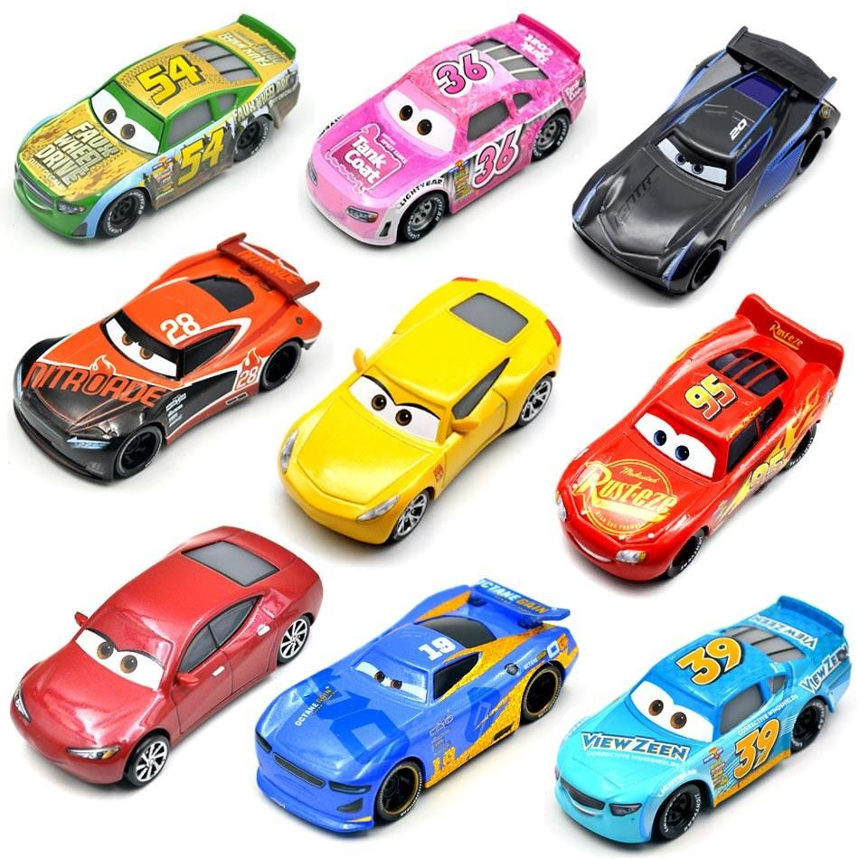 Disney Pixar 26 Style Cars 3 New Lightning Mcqueen Jackson Storm