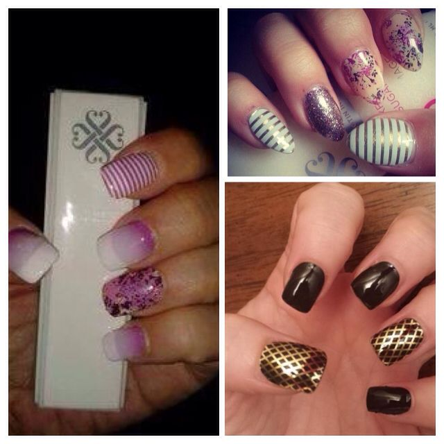 Jamberry nail wraps on acrylic nails!! Www.kittykatjams ...