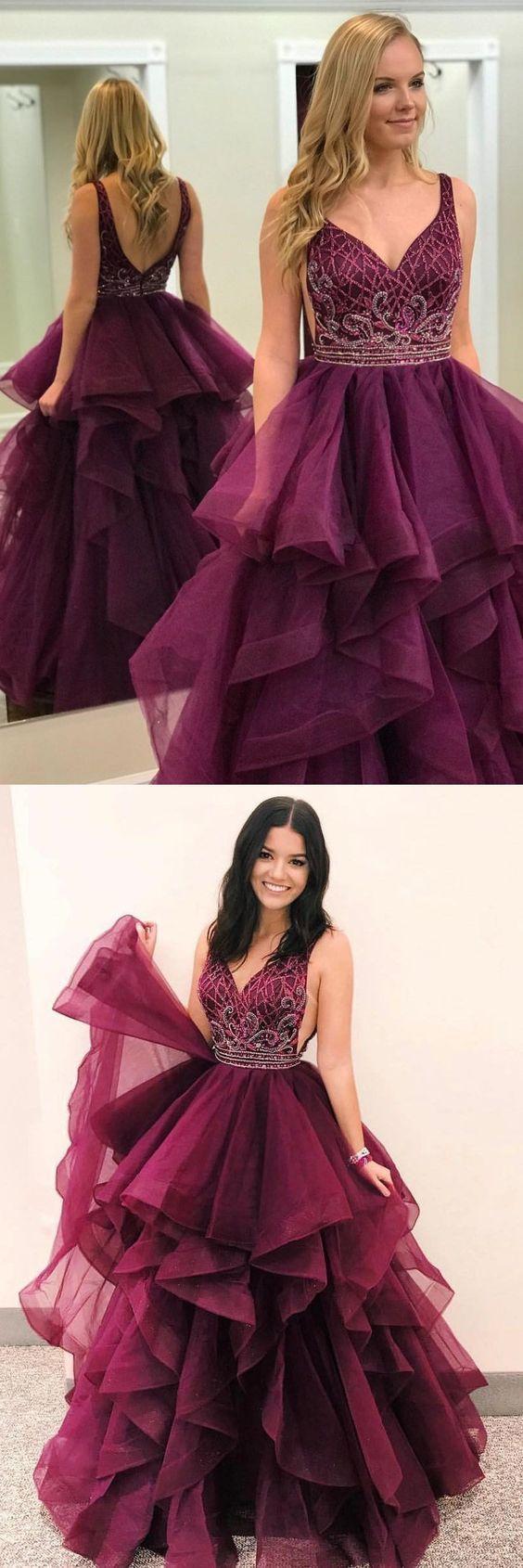 prom dress long prom dress gorgeous beads burgundy long prom