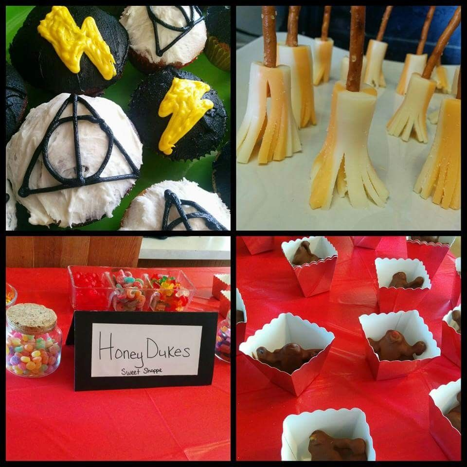 Harry Potter Deathly Hallows Lightening Bolt Cupcakes Cheese String