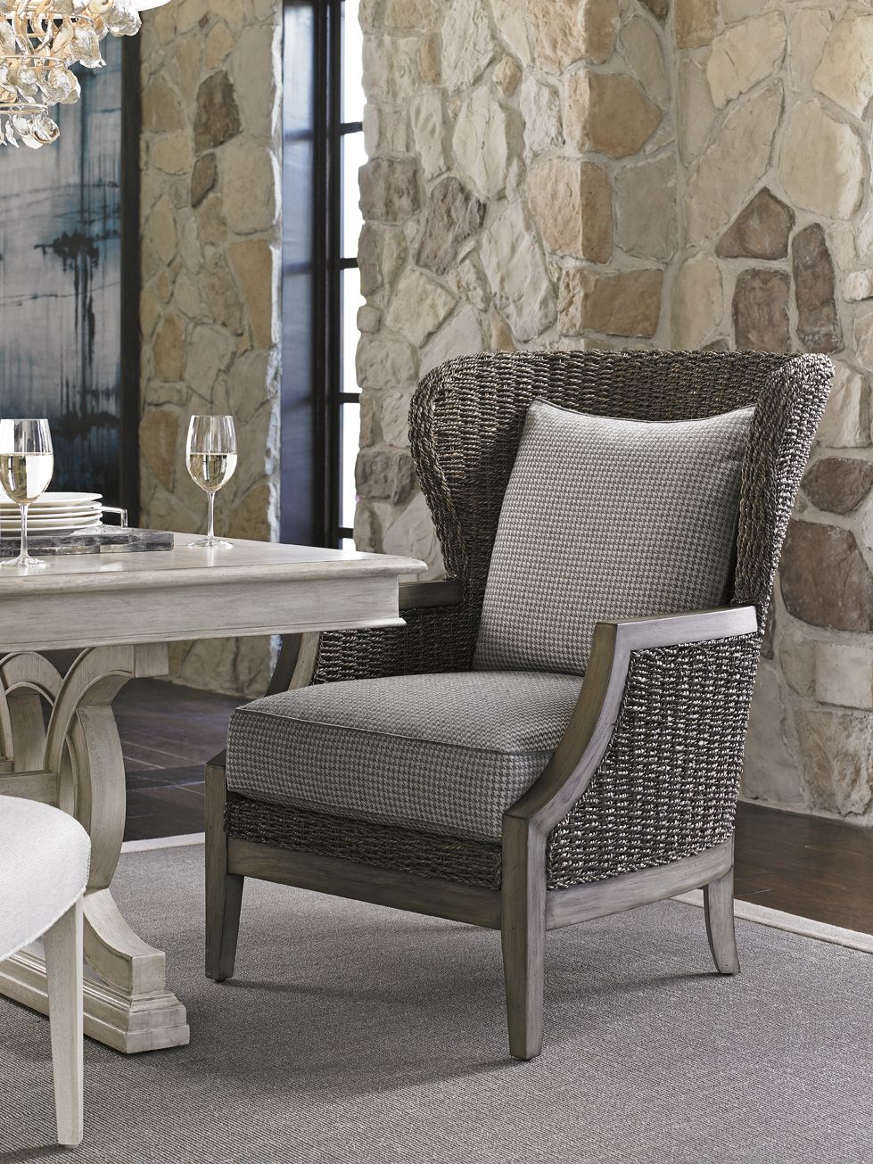 Weu0027re Definitely Ready To Relax With A Glass Of Vino In This Incredibly  Comfortable Lexington Oyster Bay Seaford Chair; Find It At West Coast  Living!