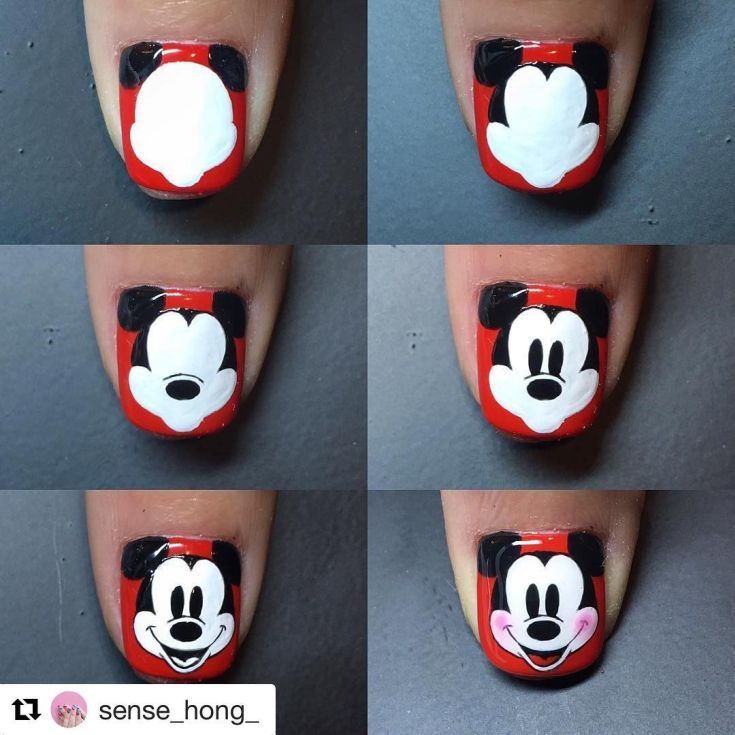 44 #nails#nailart#notd#gelnails#nailtutorial#mickey #mickeymouse ...
