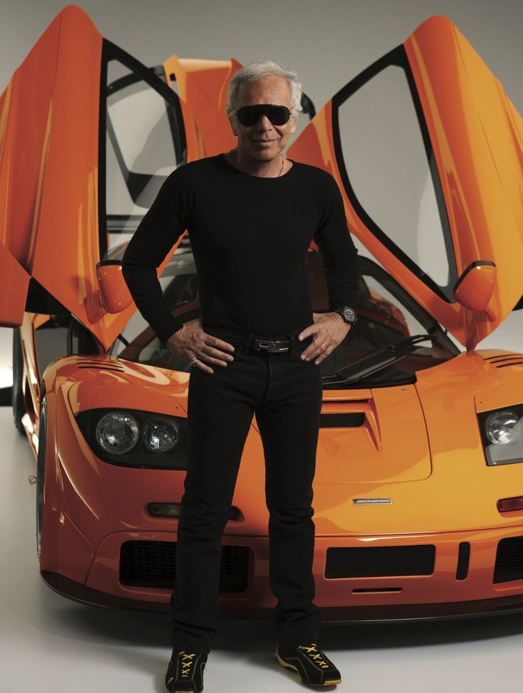 Ralph Lauren with his 1996 McLaren F1 LM  192837583441