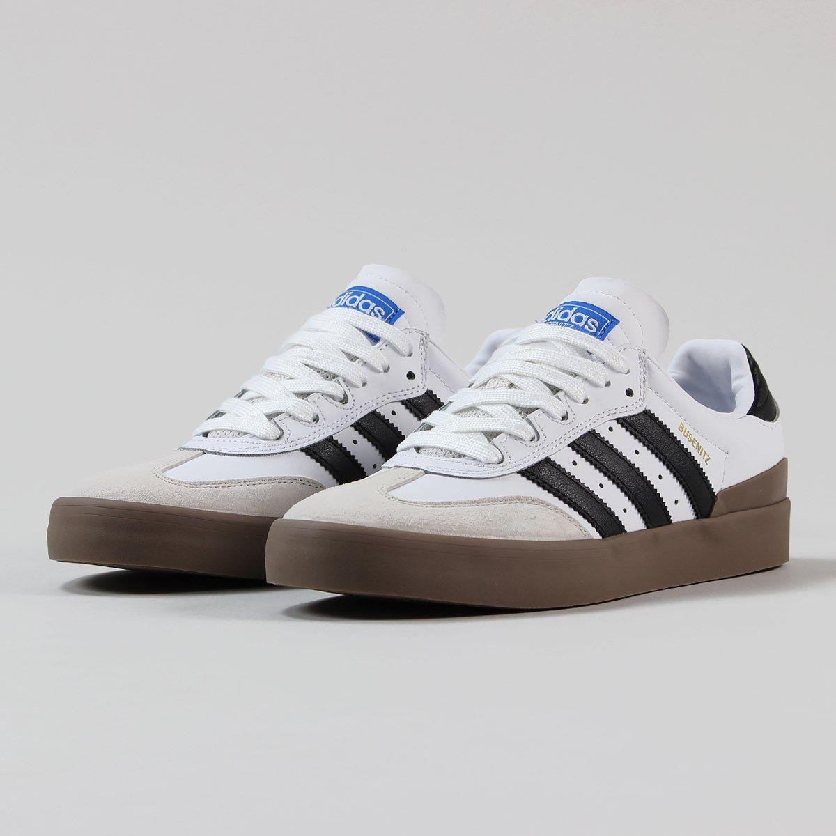 Adidas Busenitz Vulc Samba Edition Shoes White Black Blue