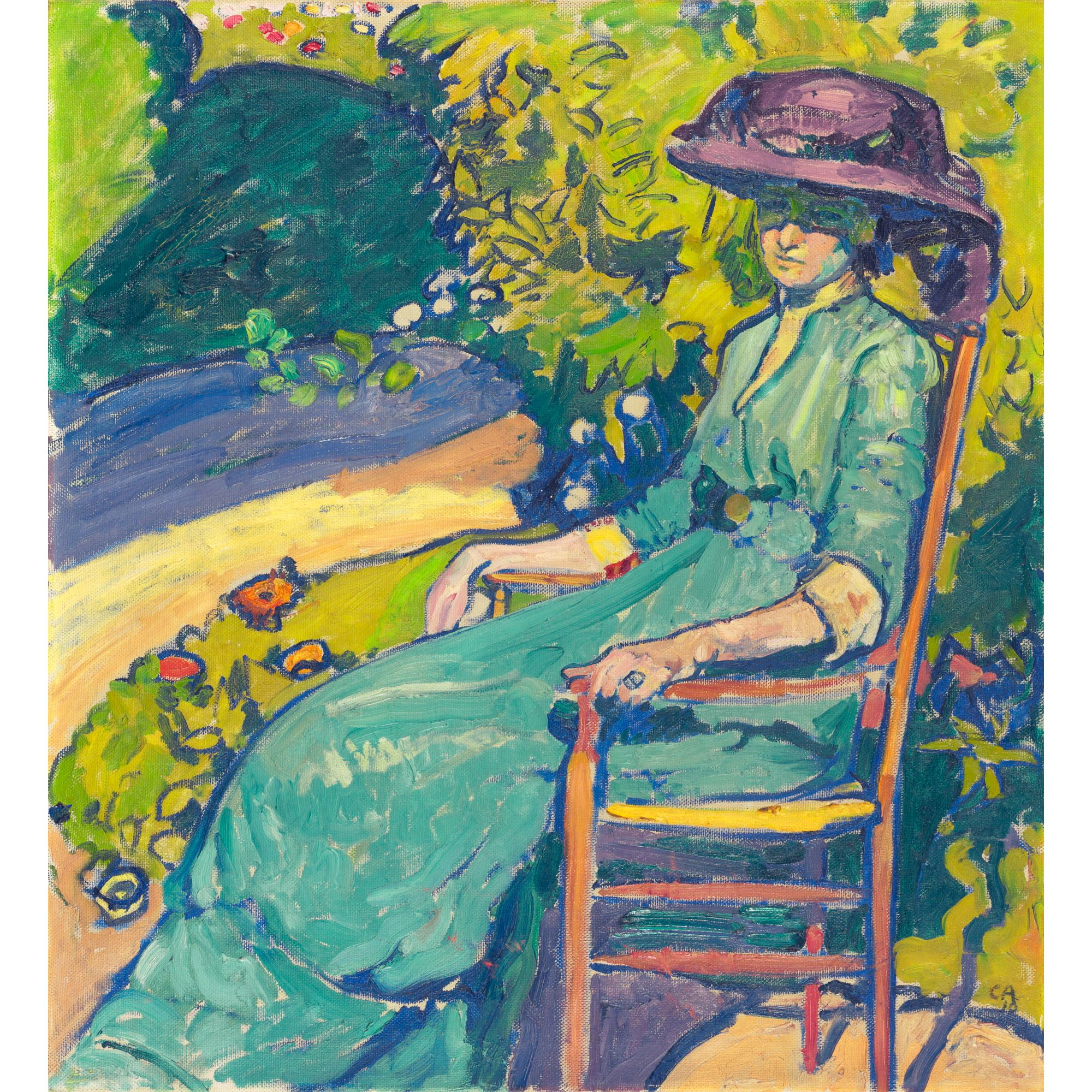 Cuno Amiet, 1868-1961, YOUNG WOMAN IN THE GARDEN (AMY MOSER), 1910