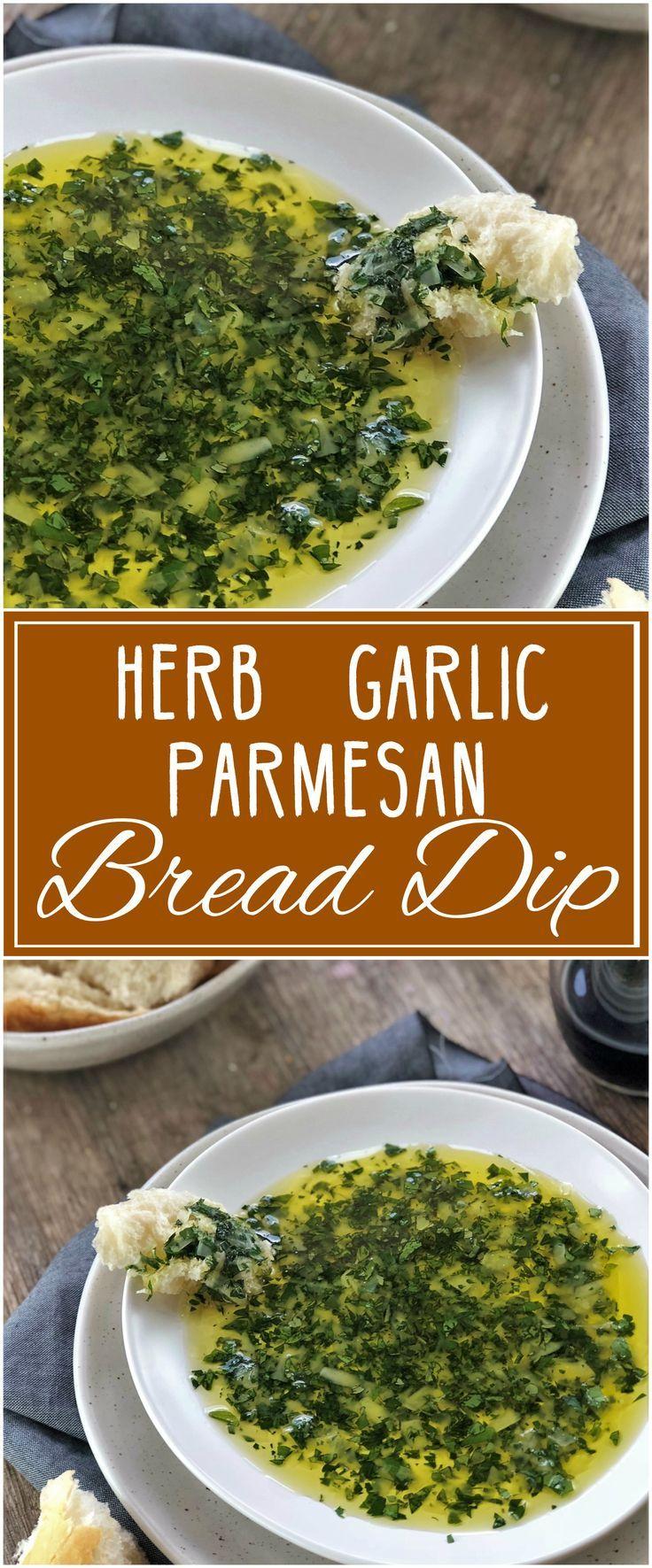 Parmesan Olive Oil Herb Dip #oliveoils